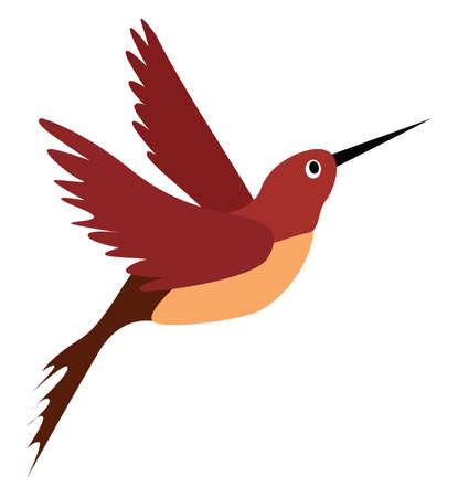 Illustration pour Red bird, illustration, vector on white background. - image libre de droit