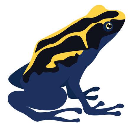 Illustration pour Poison frog, illustration, vector on white background - image libre de droit