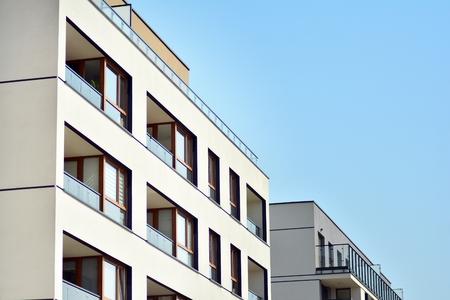 Photo pour Modern European residential apartment buildings quarter. Abstract architecture, fragment of modern urban geometry. - image libre de droit