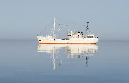 Baikal, Russia - July, 20 2015: The research vessel on Lake Baikal