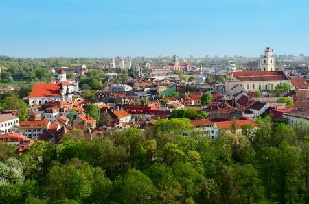 Panorama of Vilnius  Lithuania