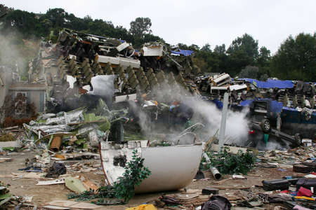 Air Crash Disaster Movie Set, USA