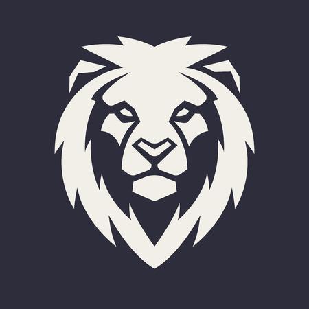 Illustration pour Lion looking danger. Lion head icon. Lion vector logo template. - image libre de droit