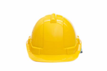 Foto de yellow halmet safety for head, hard hat - Imagen libre de derechos