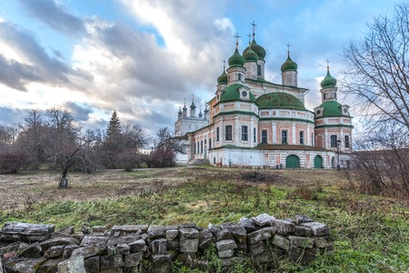 Pereslavl-Zalessky, Russia - November 03, 2015: Goritsky Monastery of Dormition, it was based in the first half of the XIV century. Cathedral of the Dormition of the Theotokos, 1750.