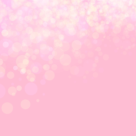 Ilustración de Pink shines wedding love bokeh abstract background. Vector illustration. Festive defocused lights. - Imagen libre de derechos
