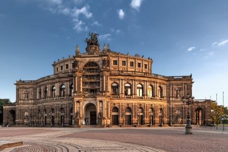 Semper Opera from outside in Dresden