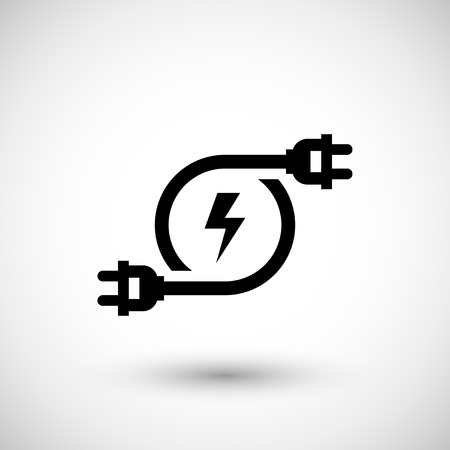 Illustration pour Electricity icon isolated on grey. Vector illustration - image libre de droit