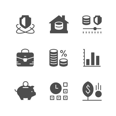 Ilustración de Set icons of investment - Imagen libre de derechos