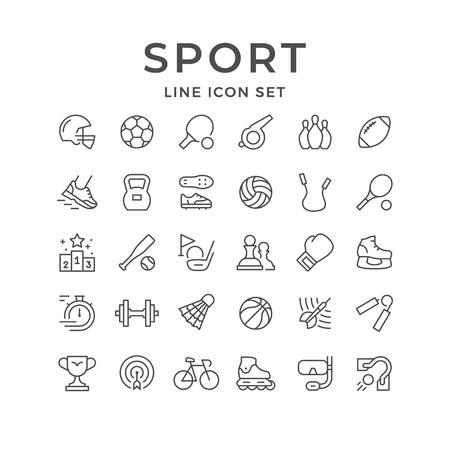 Illustration pour Set line icons of sport - image libre de droit