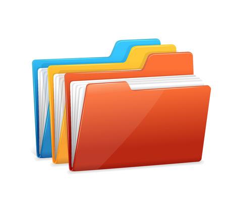 File folders icon isolated on white