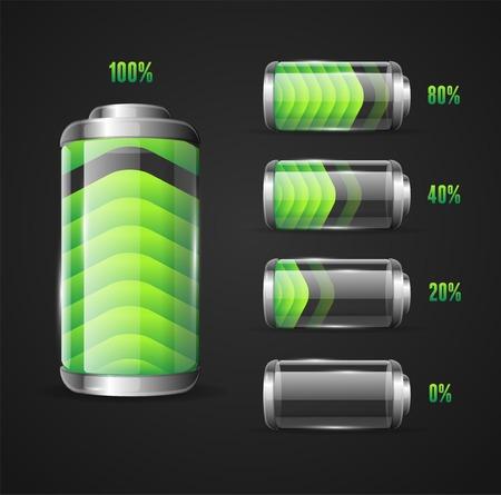 Vector illustration of Battery full level indicator