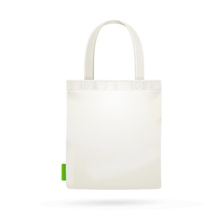 White Fabric Cloth Bag Tote. Vector illustration