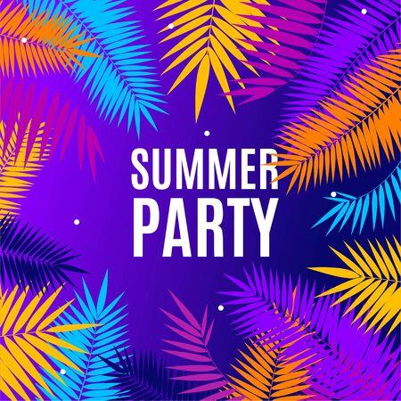 Illustration pour Summer Party Concept Banner Poster Card. Vector - image libre de droit