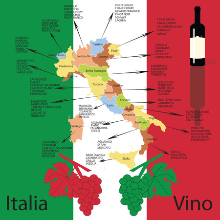 Editable italian wine map