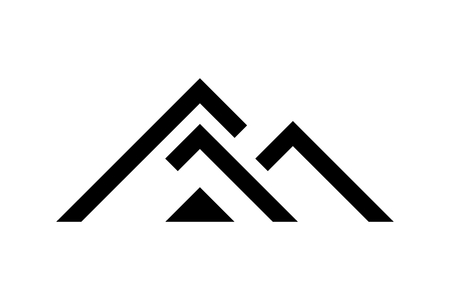 Ilustración de Black house logo template, vector illustration - Imagen libre de derechos