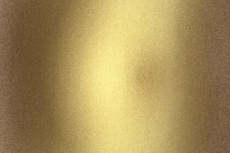 Foto für Scratches old golden metal wall, abstract texture background - Lizenzfreies Bild