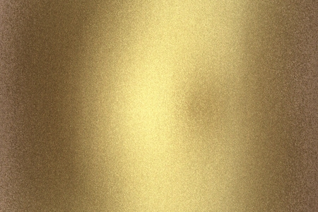 Photo pour Scratches old golden metal wall, abstract texture background - image libre de droit
