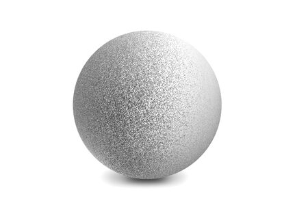 Photo for Light shining on silver metal ball isolated on white background - Royalty Free Image