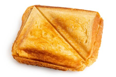 Photo pour Toasted cheese sandwich from sandwich toaster isolated on white. - image libre de droit