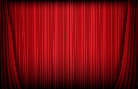 Illustration for abstract background of red curtain, gambling casino concept - Royalty Free Image