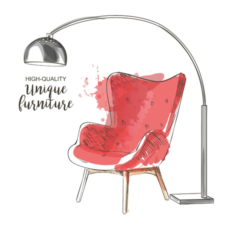 red chair sketch