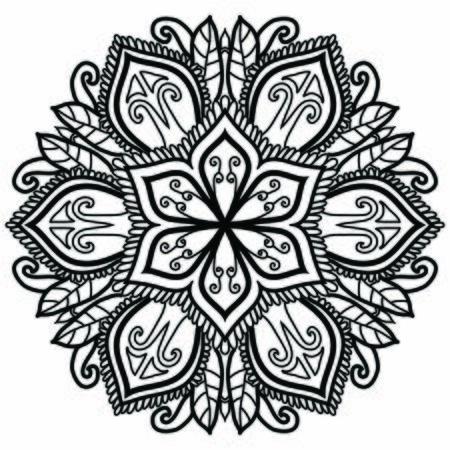 Illustration pour Mandala Vector Art Pattern Design - image libre de droit