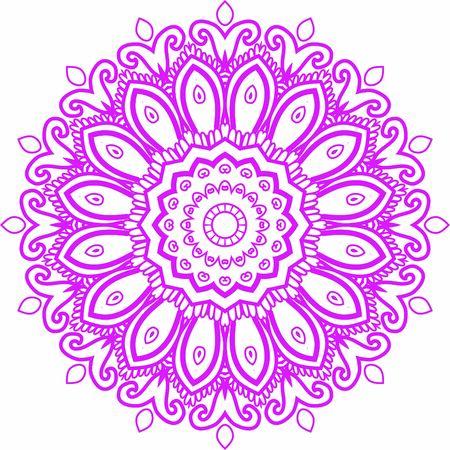 Illustration pour Hindi Mandala Vector Art Pattern Design - image libre de droit