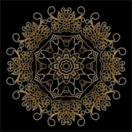 Illustration pour Mandala Premium Gold - image libre de droit