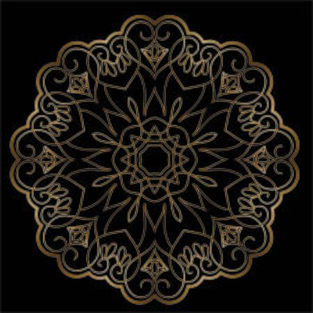 Illustration pour Premium Gold Mandala Vector Art Pattern Design - image libre de droit