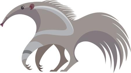 Illustration pour stylized image of cute big anteater - image libre de droit