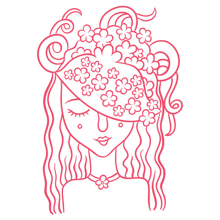 spirits of nature - young girl fairy - symbol of blooming flowers