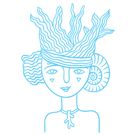 spirits of nature - young girl fairy - symbol of the spirit of the water and the sea