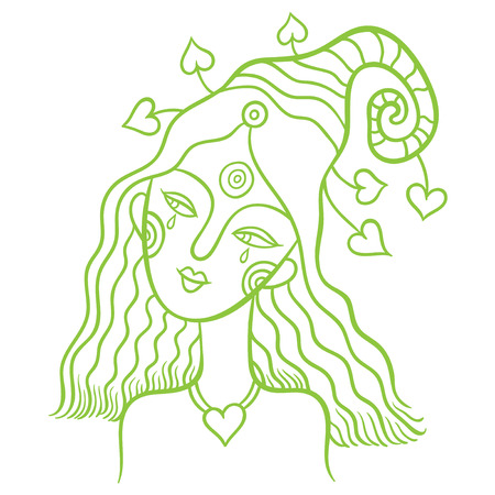 spirits of nature - young girl fairy - symbol of the spirit of the forest and nature