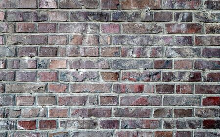 Photo pour Old brick wall. Texture of old weathered brick wall panoramic background. - image libre de droit