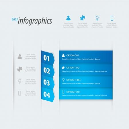 Foto de Four options infographics. Place your own text. - Imagen libre de derechos