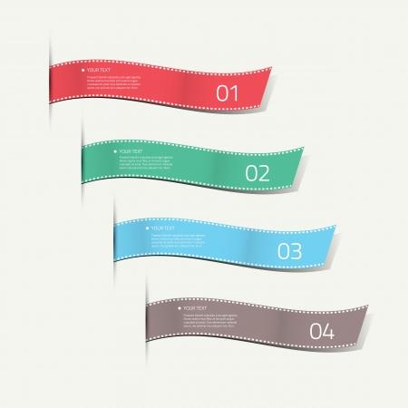 Infographic silk labels decorative