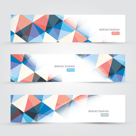 Three abstract background website copyscpace business backgrounds vectorのイラスト素材
