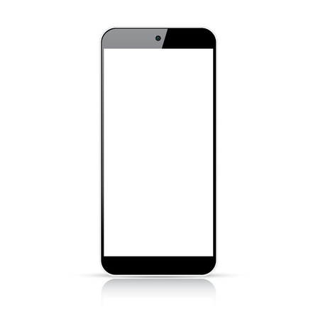 Modern responsive smartphone vector - Illustration isolated on white