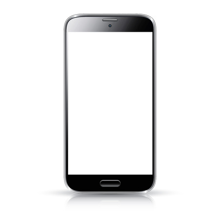 Smartphone realistic vector illustration isolation  Modern style mobile phone