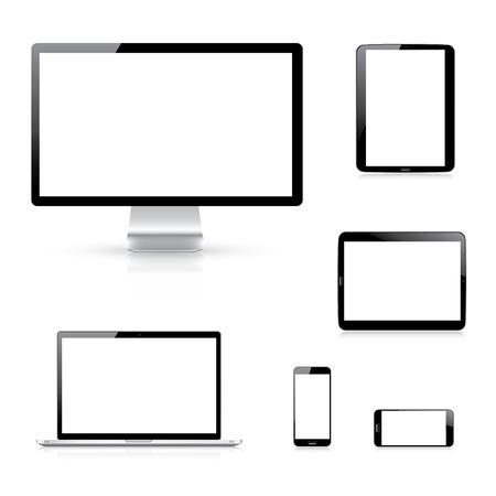 Illustration pour Modern electronic devices  - image libre de droit