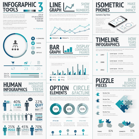 Business Elements for Data Visualization Infographics