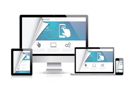 Ilustración de Website styling coding concept. Realistic illustration. - Imagen libre de derechos