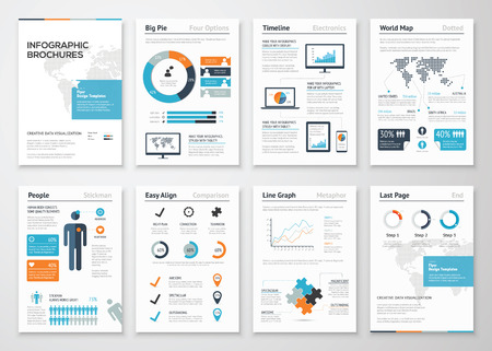 Infographic brochure elements for business data visualization