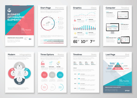 Infographics elements for business brochures and presentations