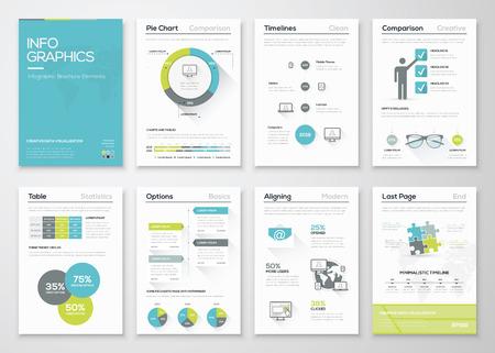 Fresh infographics vector concept. Business graphics brochures.