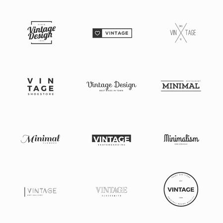 Vintage vector logo templates for brand design