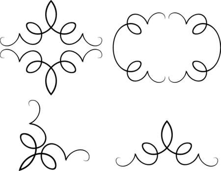 Set of original vector design elements. This is a vector image - you can simply edit colors and shapes.