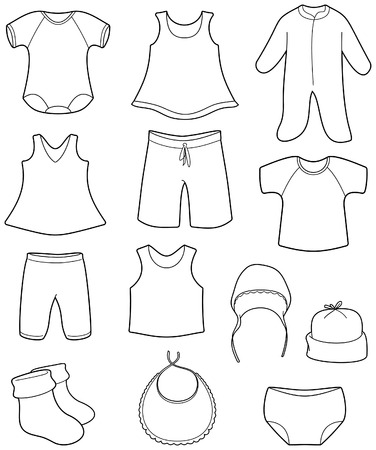 Illustration for Children's clothes - Royalty Free Image