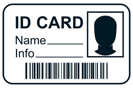 Illustration pour ID card member pass - image libre de droit